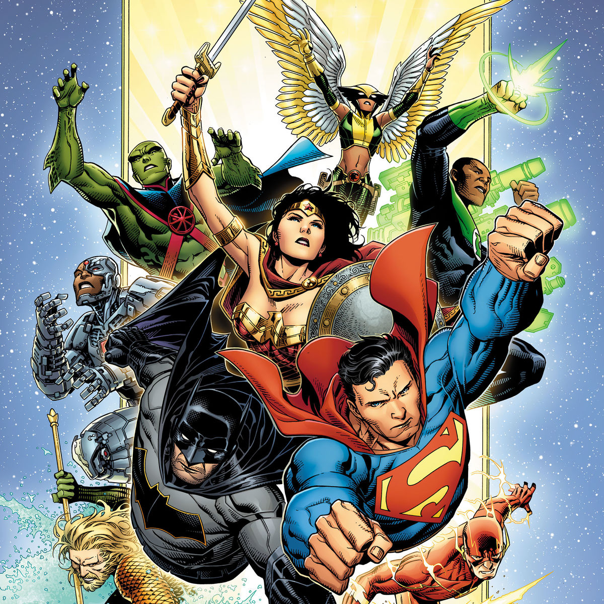 DC- Justice League #1 cover (Cheung)