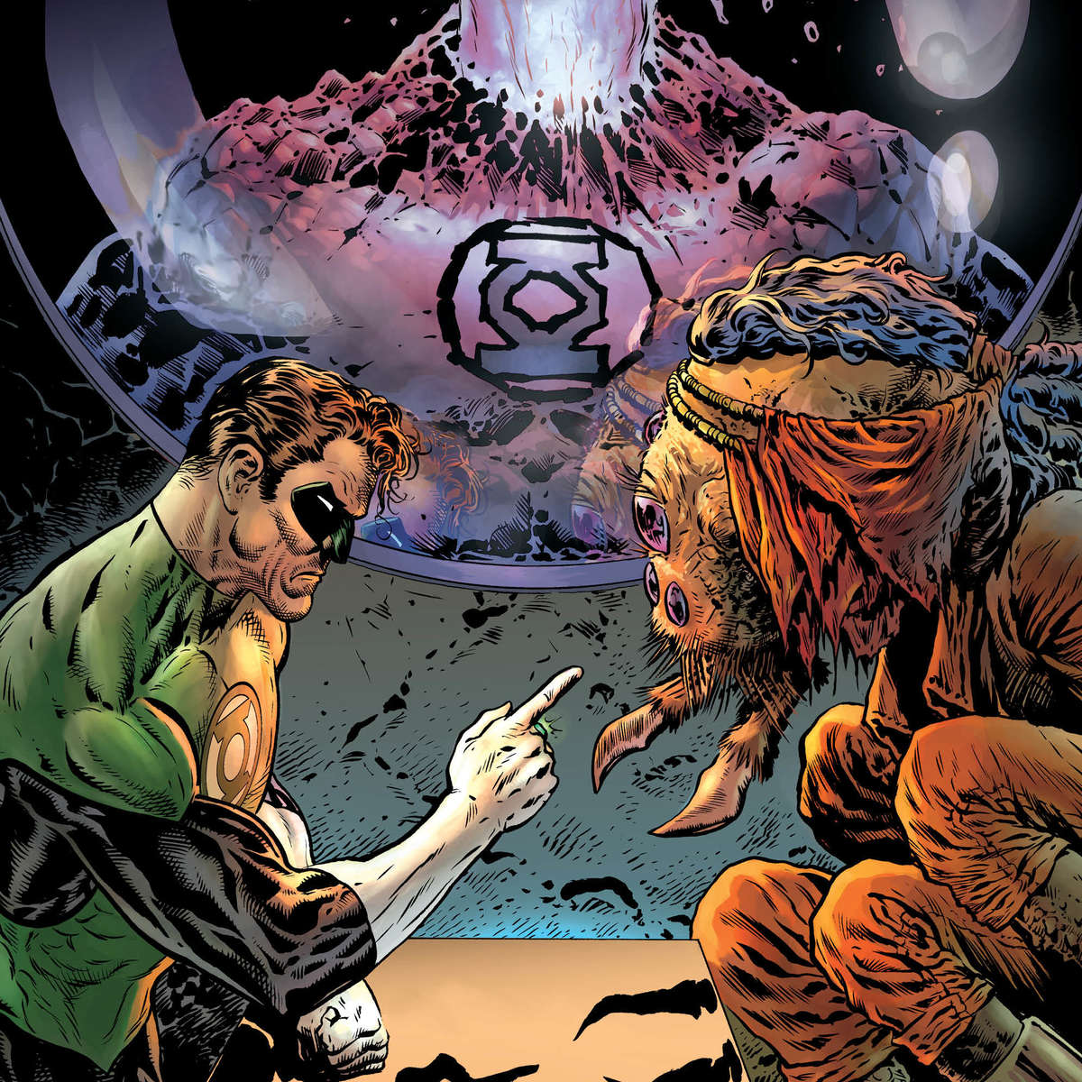 The Green Lantern 2 Cover Unlettered