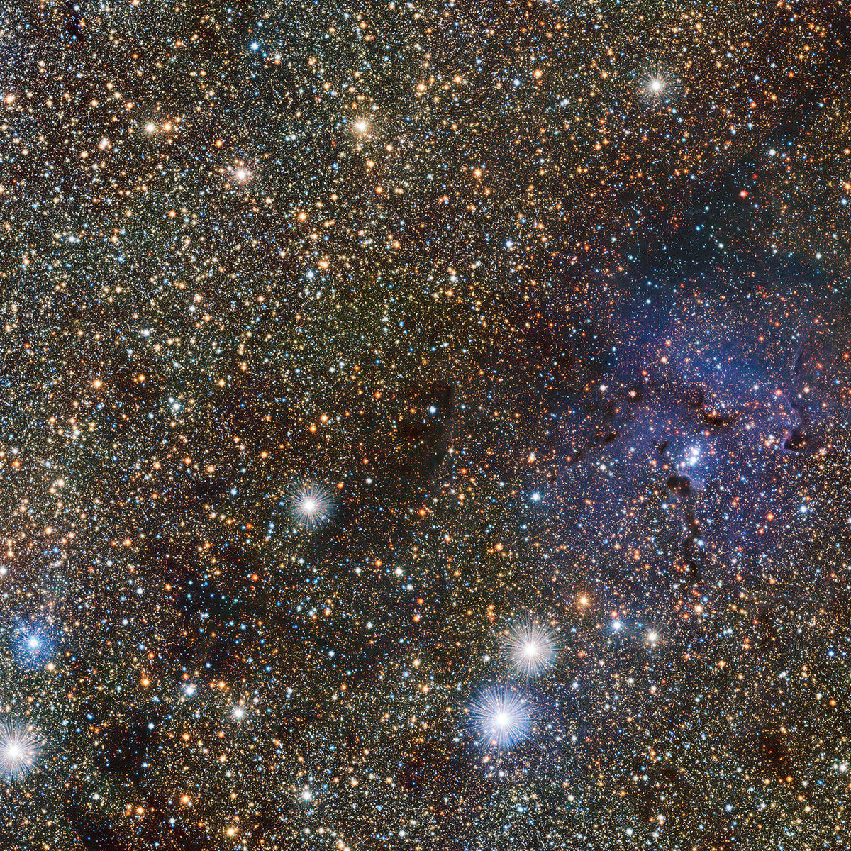 The Trifid Nebula in infrared light. Credit: ESO/VVV consortium/D. Minniti/Gábor Tóth