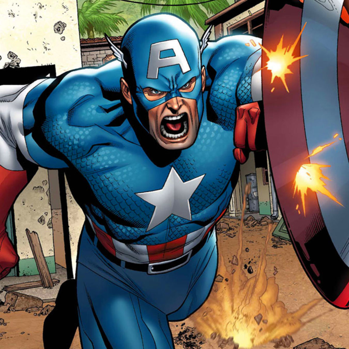steve rogers is back with a new shield in first look at new captain