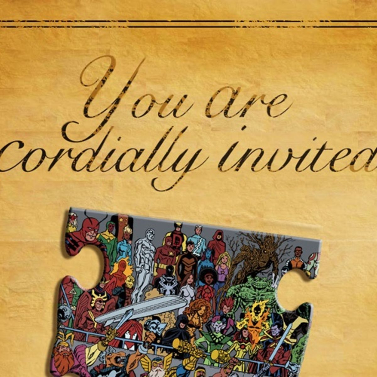 Marvel Wedding Invitation 2