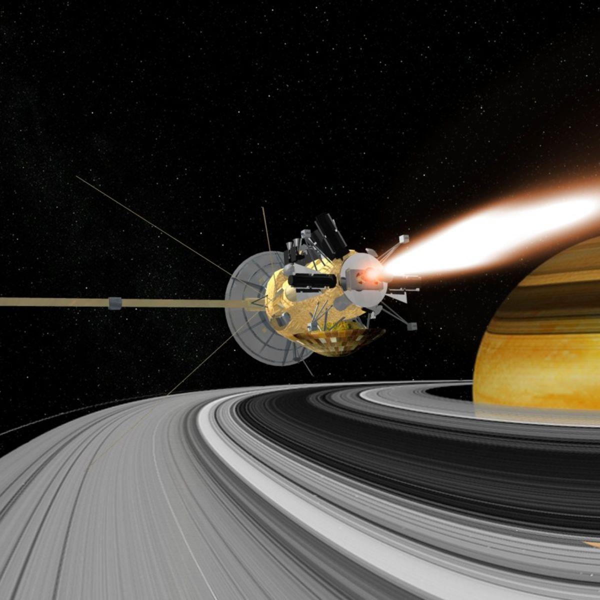 Artwork: Cassini enters Saturn orbit in 2004