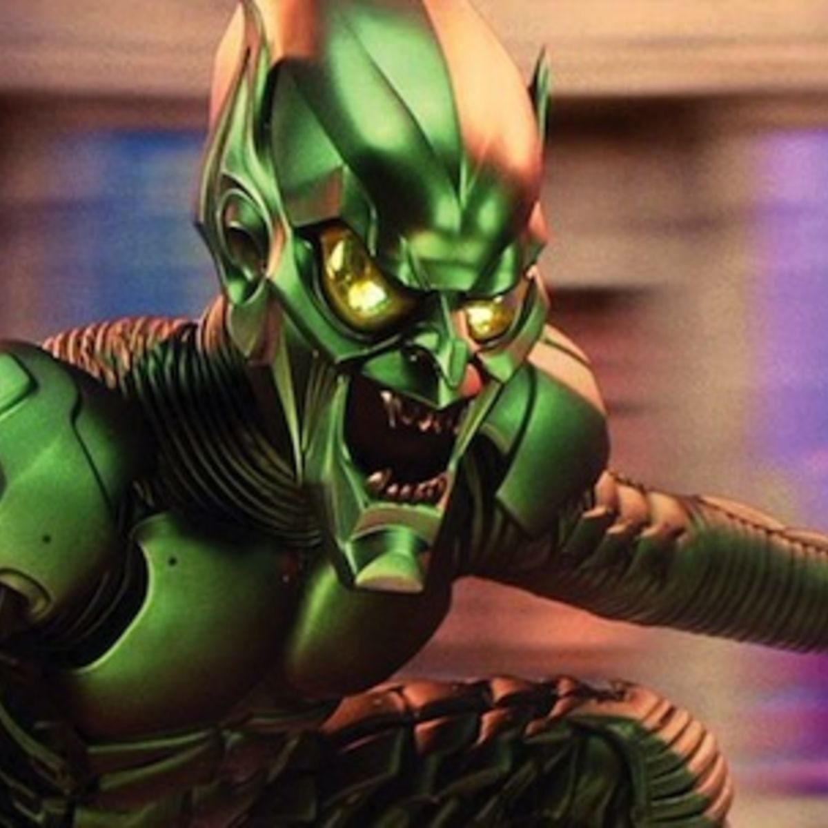 see early screen tests for sam raimi s unused green goblin makeup