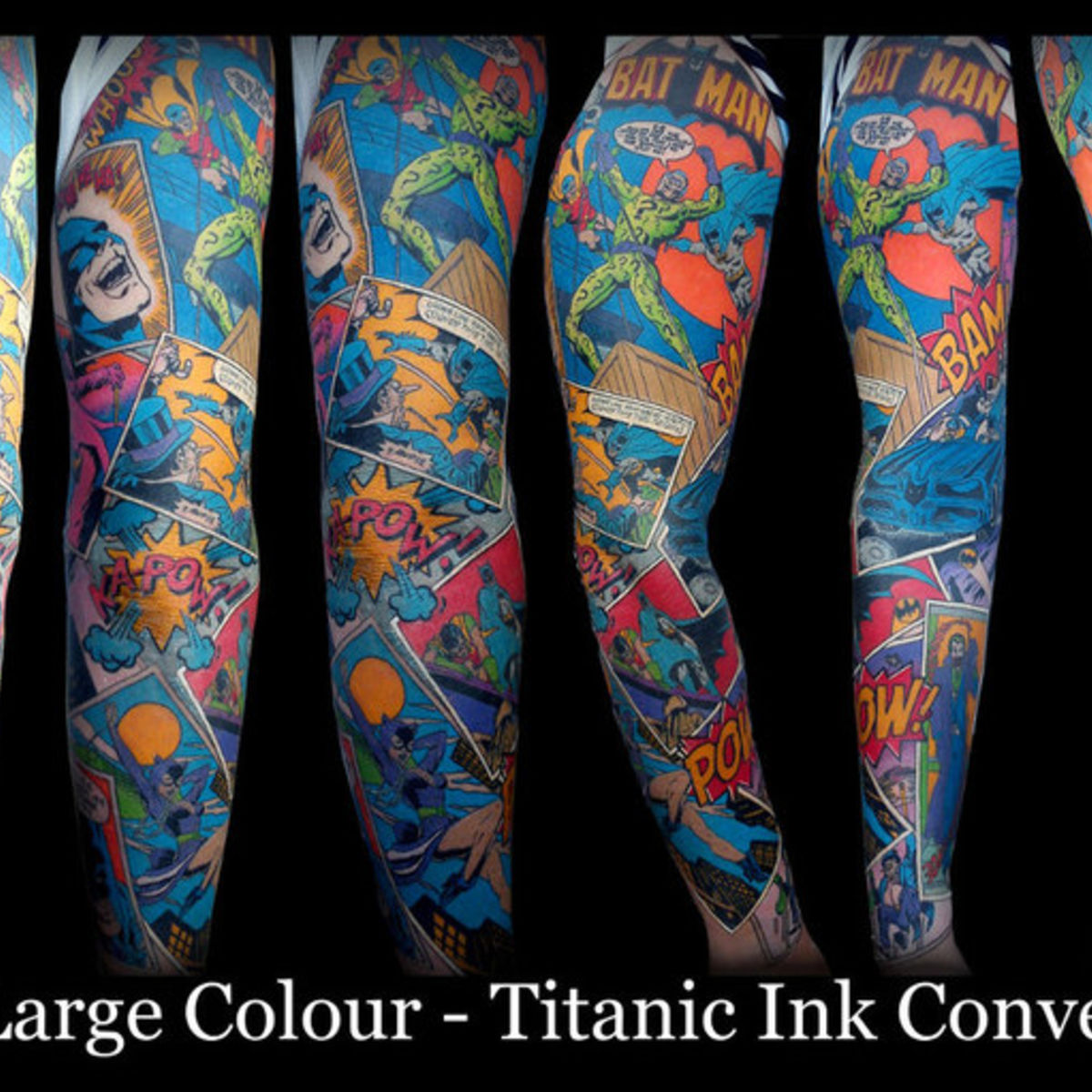 image of the day: award-winning batman comic sleeve tattoo | syfy wire