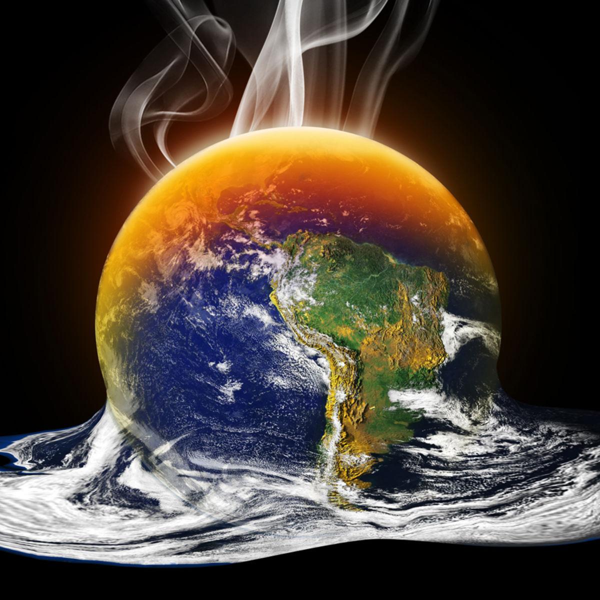 illustration of Earth melting