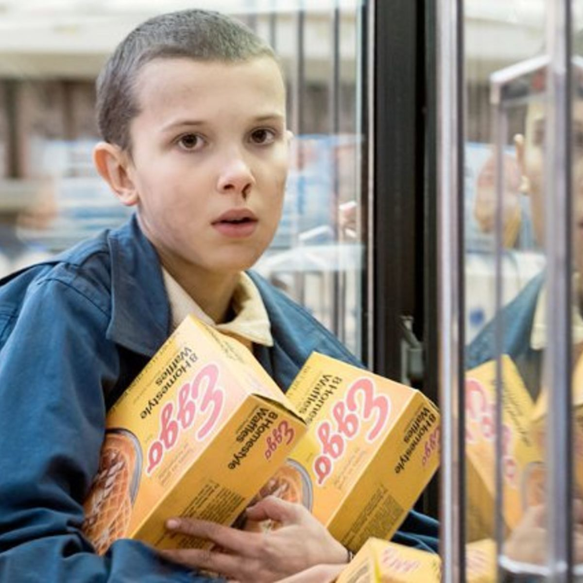 Stranger Things, Eleven with Eggo Waffles