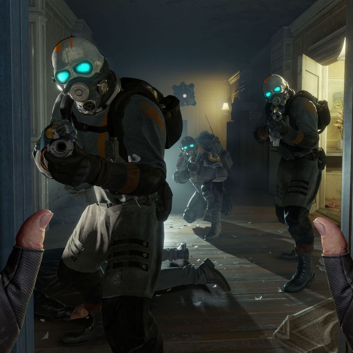 A scene from VR game Half Life Alyx