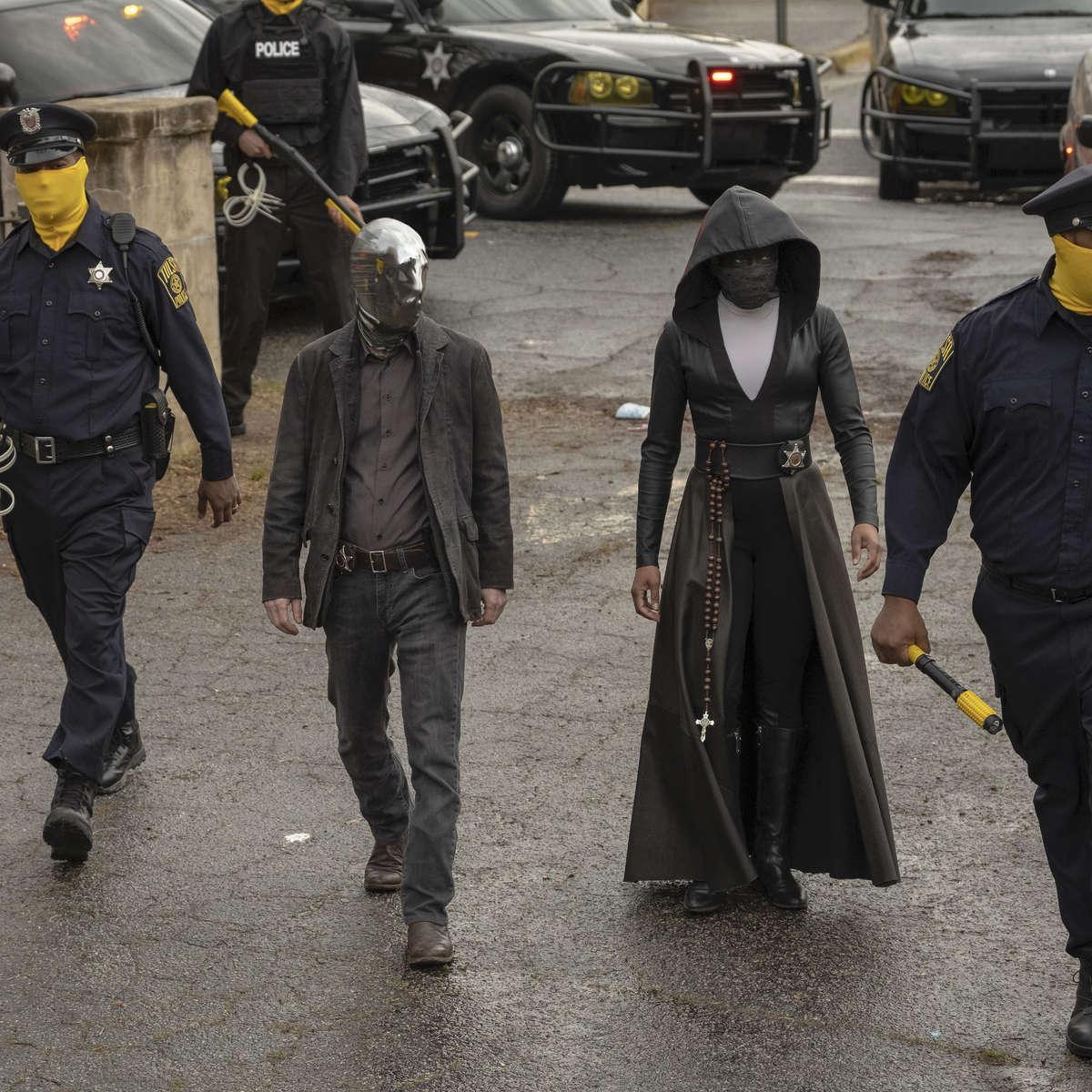 Tim Blake Nelson and Regina King in HBO's Watchmen
