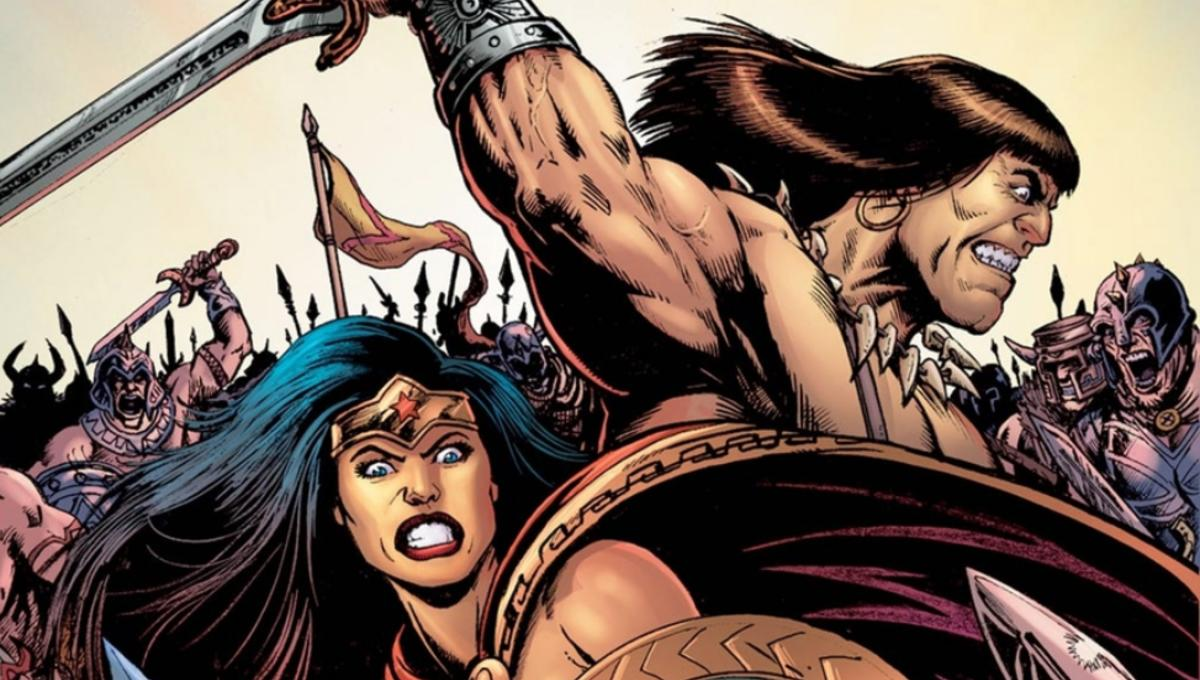 Essence. conan the barbarian with women theme simply