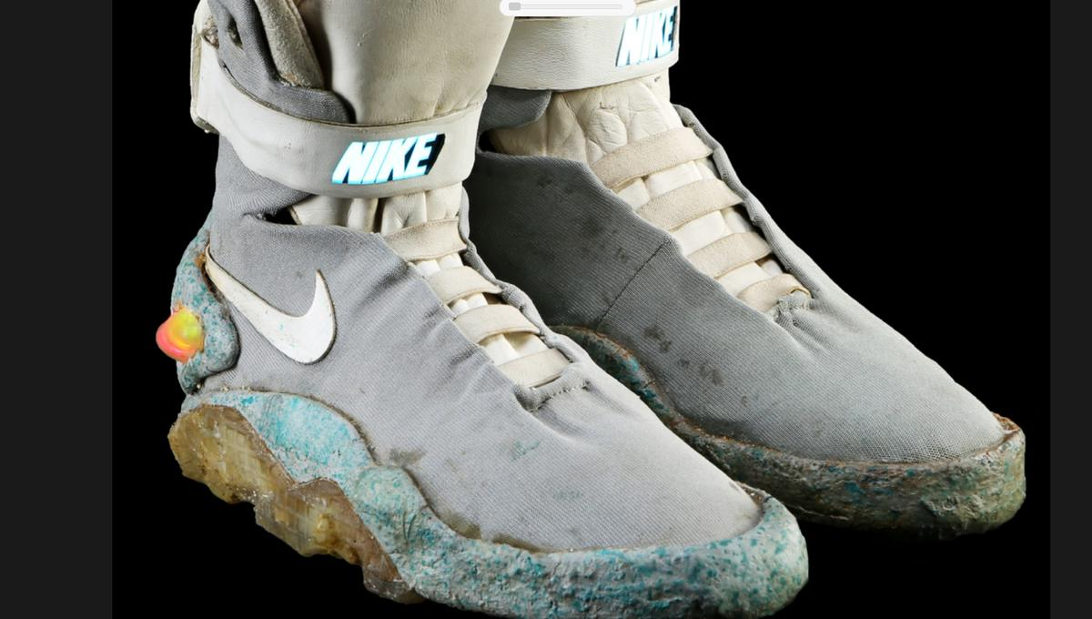 1850d67de51a Michael J. Fox s Back to the Future II Nikes up for auction