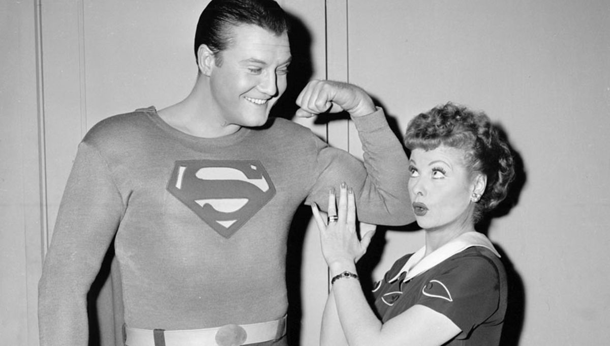 tv crossovers, The crossover between the television series- Adventures of Superman and I Love Lucy.