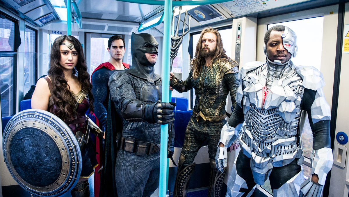 Justice League train
