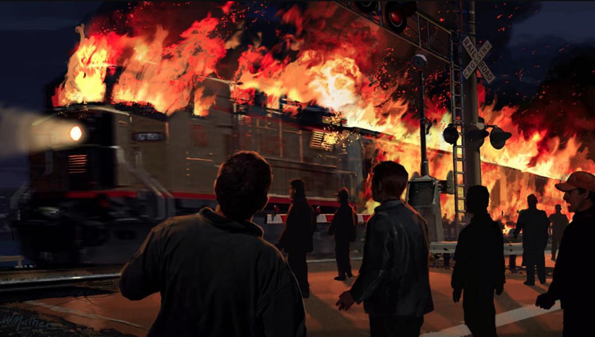 stuff we love that flaming train scene in tom cruises