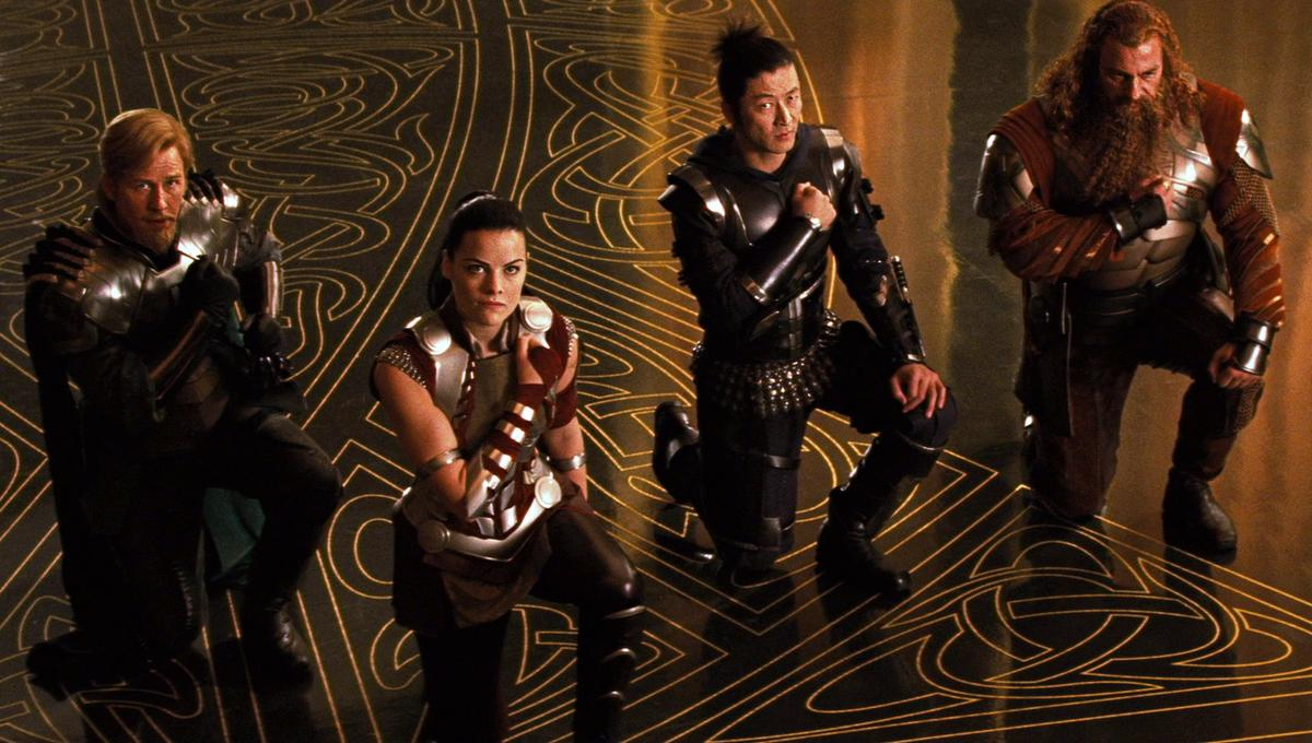 What happened to the Warriors Three in Thor: Ragnarok? Kevin Feige