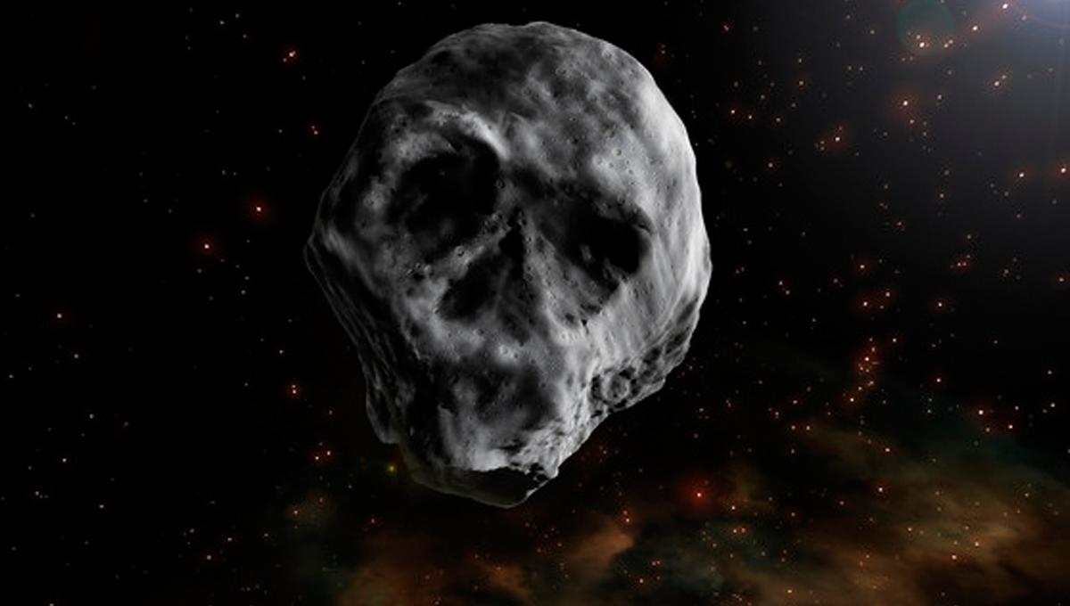 This bizarre skull-shaped asteroid will be haunting us again