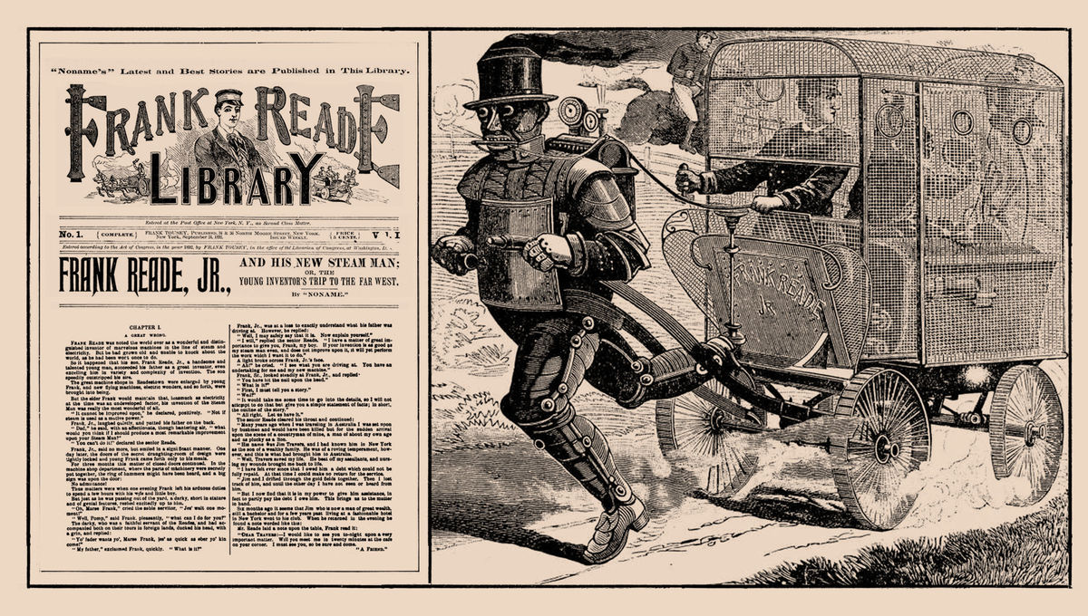 Firsts The Steam Man Of Prairies Was First Robot In Standard Military Wire Harness Lacing Literature Syfy