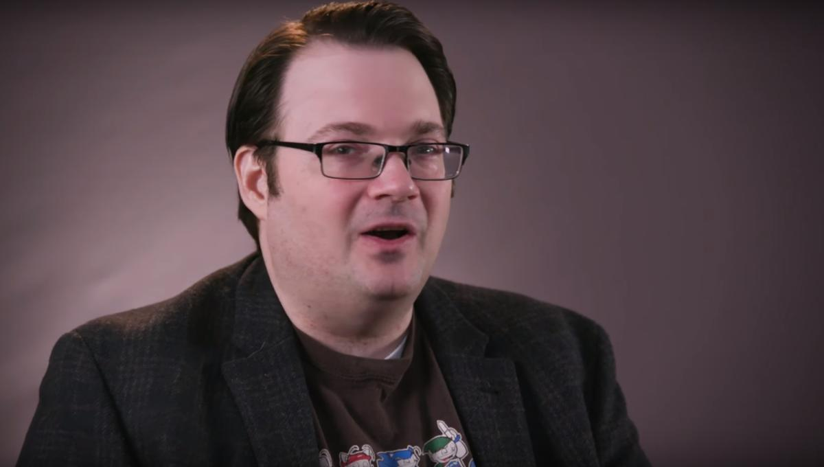 Brandon Sanderson video interview SYFY WIRE screengrab