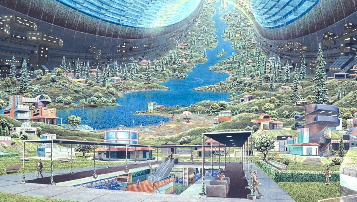 don davis space colony artist depiction