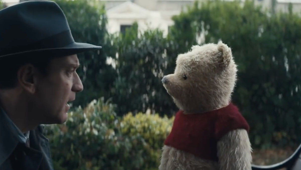 Christopher Robin- Ewan McGregor with Pooh