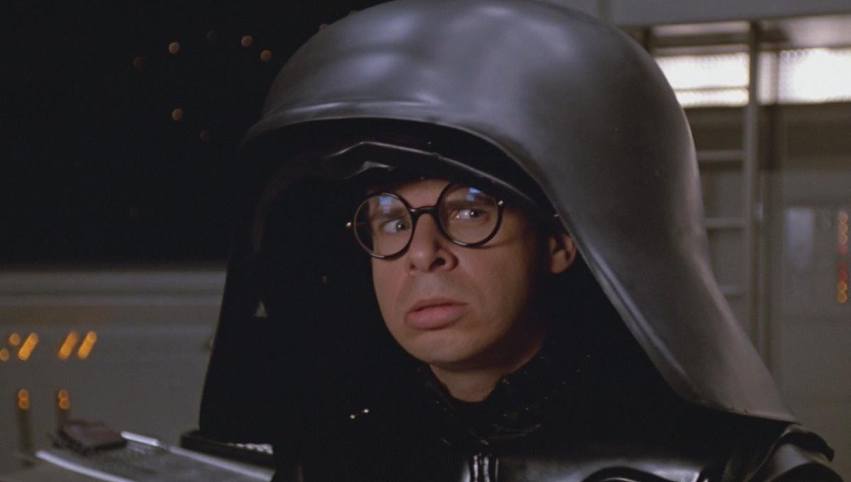 rick moranis will play spaceballs dark helmet one more time for an