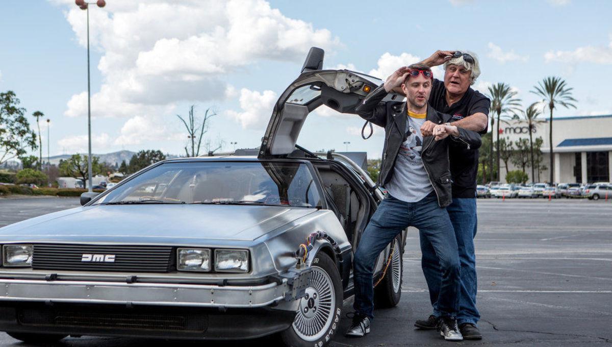 Exclusive: Chris Hardwick takes Jay Leno back to the future