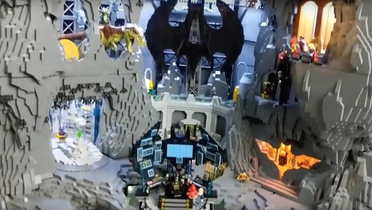 Someone just built the most incredible Batcave ever entirely out of LEGOs