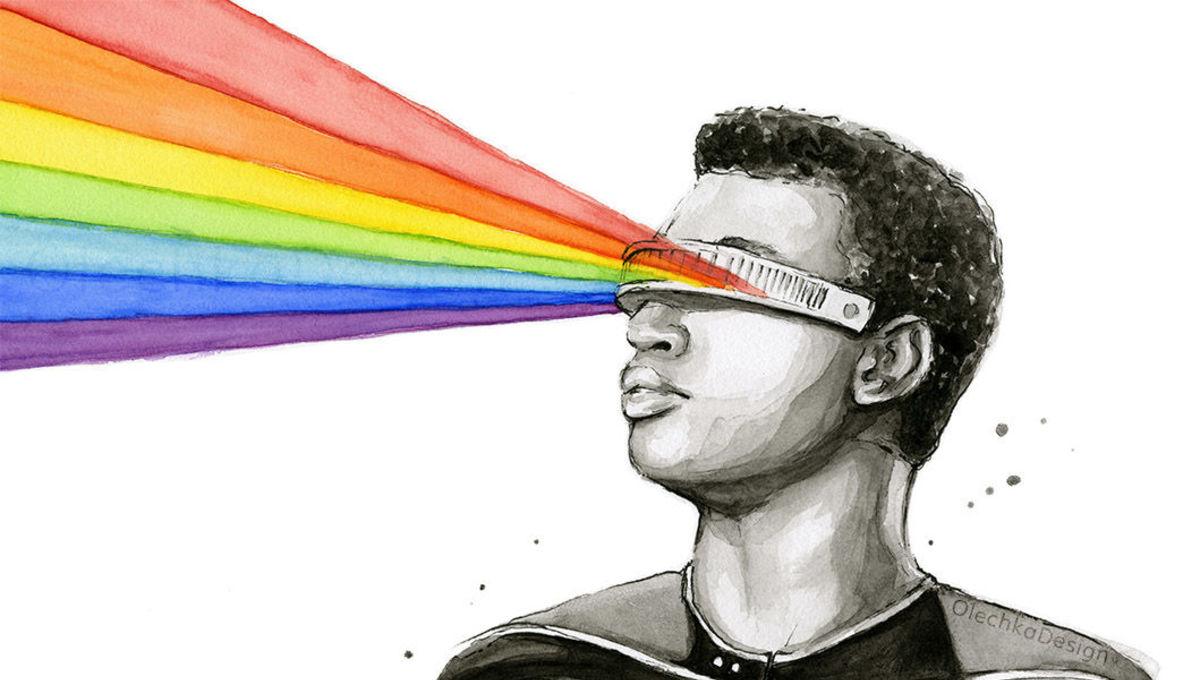 Geordi Laforge rainbow portrait Olga Shvartsur