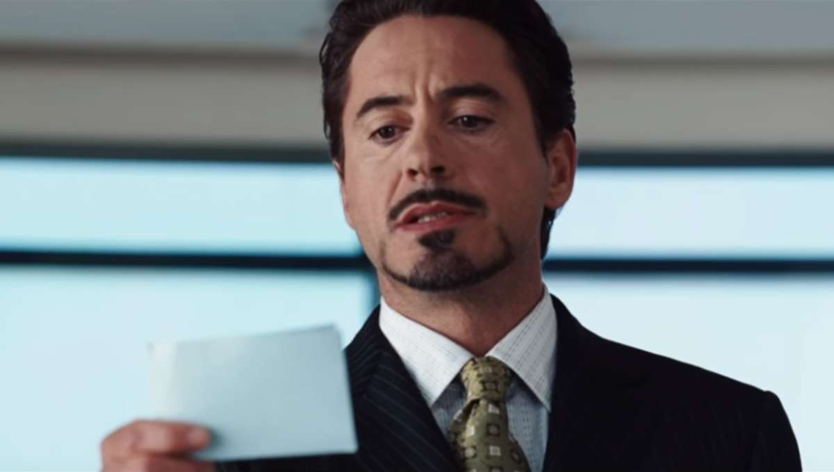 Iron Man 2008 press conference scene