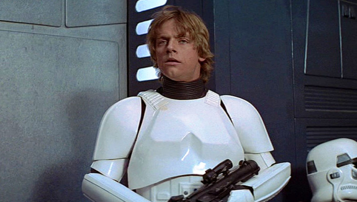 Mark Hamill returns as Stormtrooper Luke on the SDCC convention floor