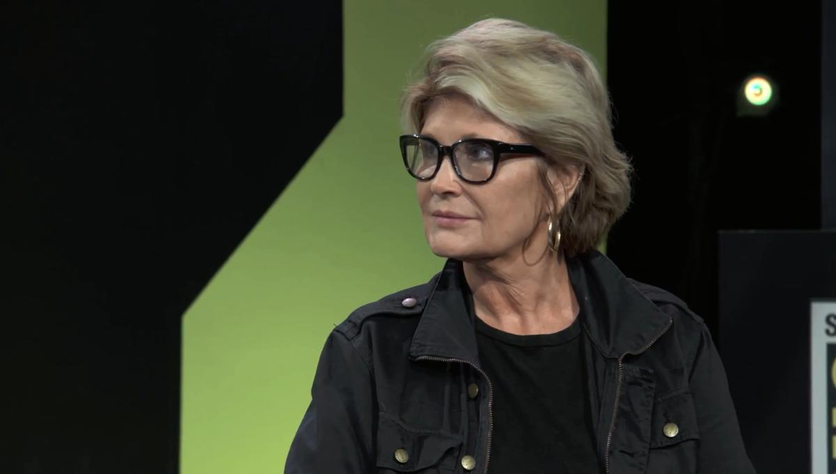 Sandy King Carpenter SDCC 2018 SYFY WIRE Screengrab