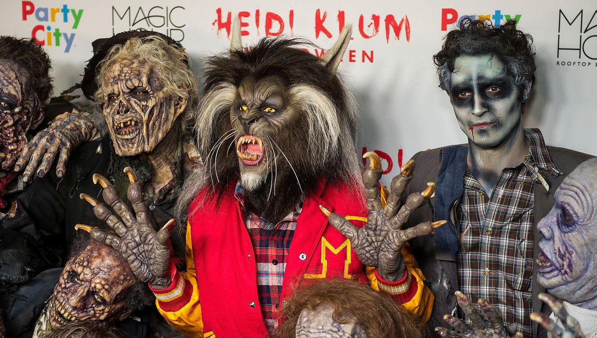 Heidi Klum Michael Jackson Thriller Halloween