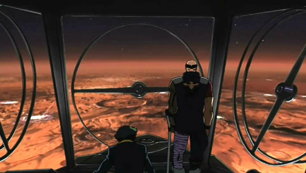 Which anime series boasts the best version of a terraformed Mars?
