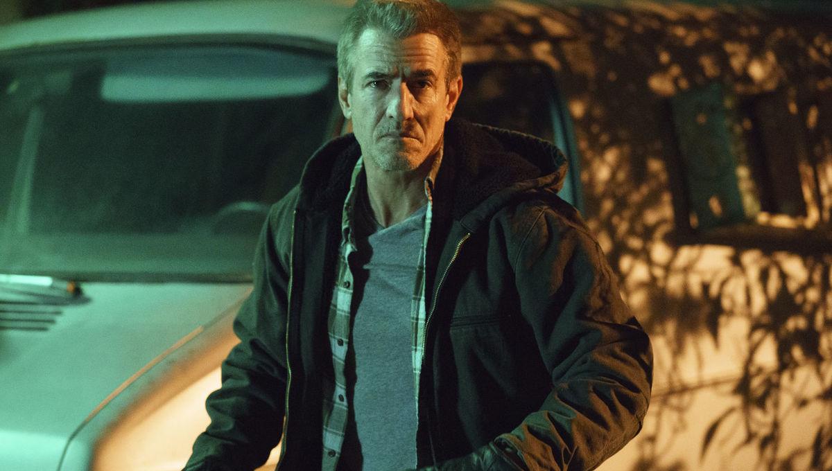 In Hulu's Into the Dark episode Flesh & Blood, Dermot Mulroney tries