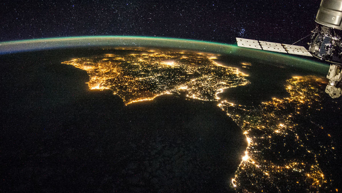 NASA image of light pollution