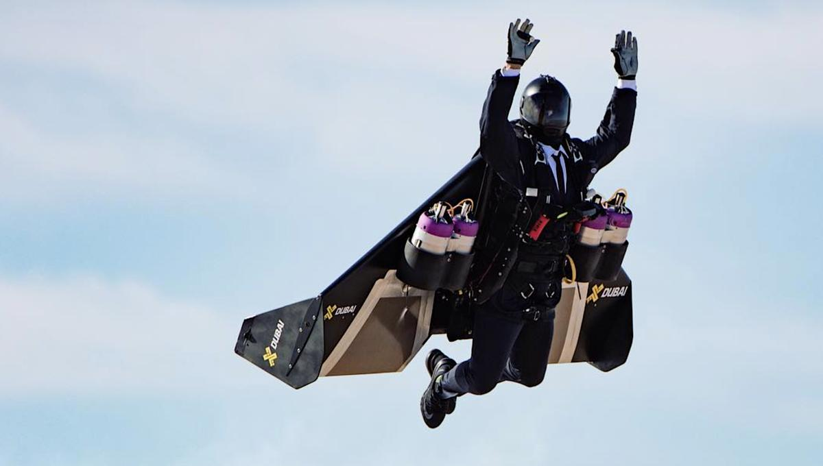 6e082acb06b Watch  Jet suit takeoff soars a real-life imitation of Stark Industries  tech