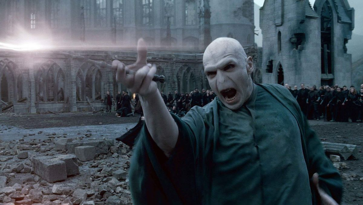Voldemort with wand