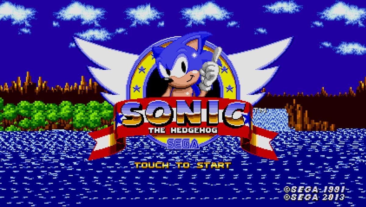 SEGA Sonic the Hedgehog Start Screen 2018