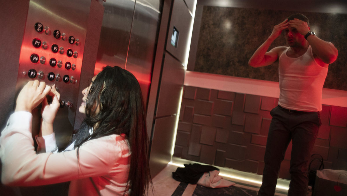 Spend Valentine's Day stuck in an elevator with a psycho