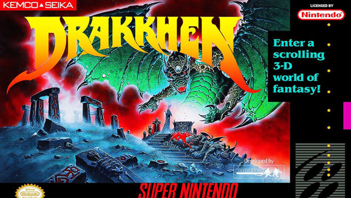 Drakkhen SNES Box Art