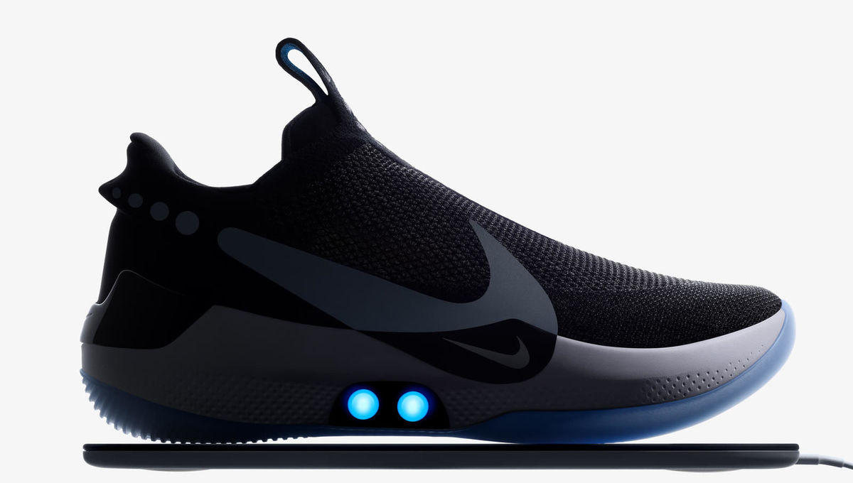 3734be04f91d Nike reveals new self-lacing basketball shoes you can control with your  phone Nike reveals new self-lacing basketball shoes you can control with  your phone ...
