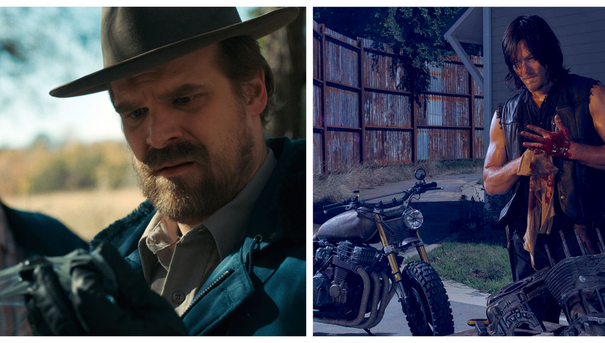 David Harbour Stranger Things Norman Reedus Walking Dead