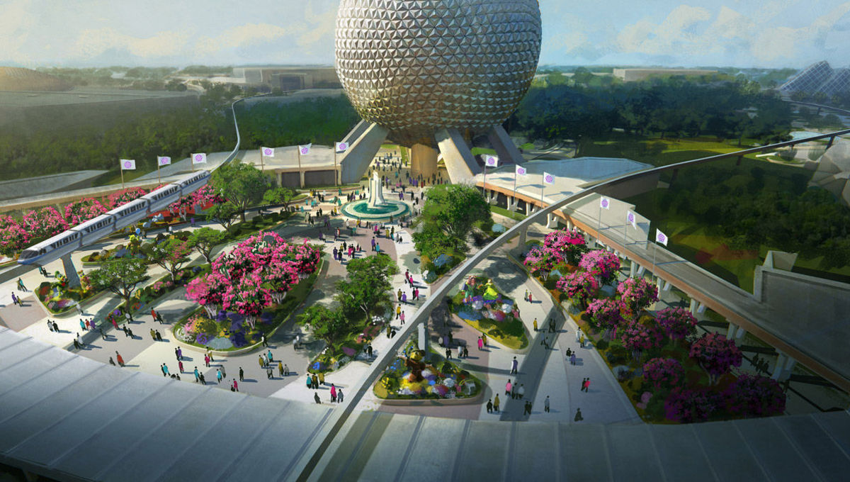 Epcot render via Disney Blog 2019