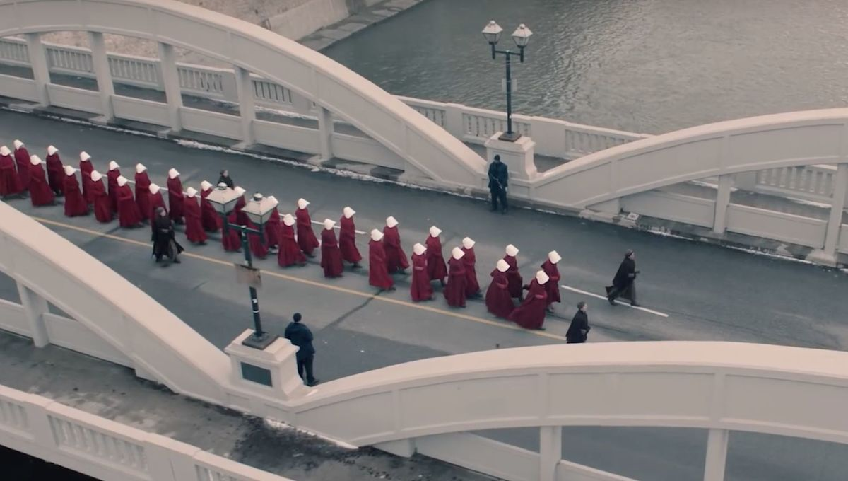 Gilead becomes even more frighteningly real as The Handmaid's Tale films in Washington, DC