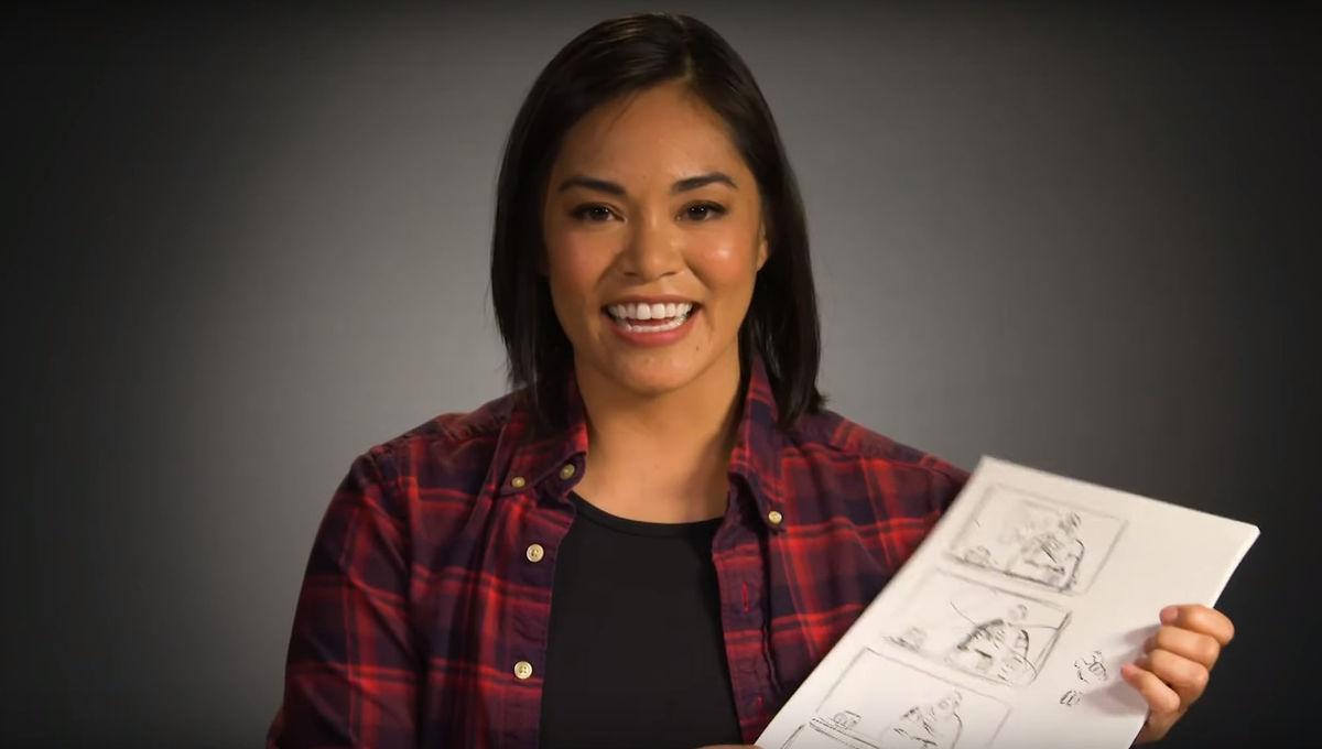 Artists Alley: Disney Head of Story Josie Trinidad sketches Ralph Breaks the Internet storyboards