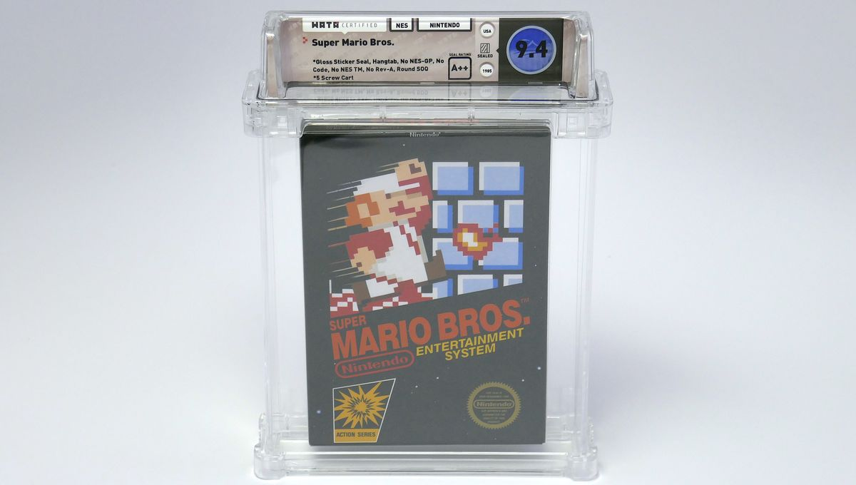 Super Mario Bros auction copy 2019