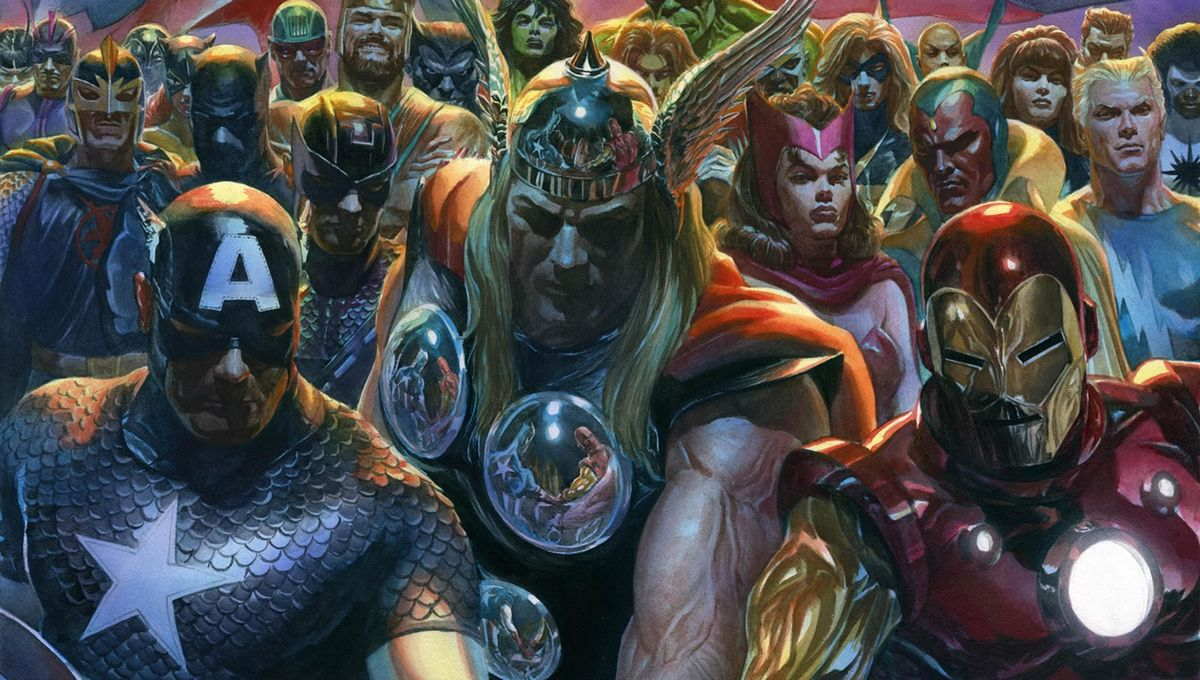 Exclusive: Giant-Man looms over Avengers in new Alex Ross C2E2 fine art litho