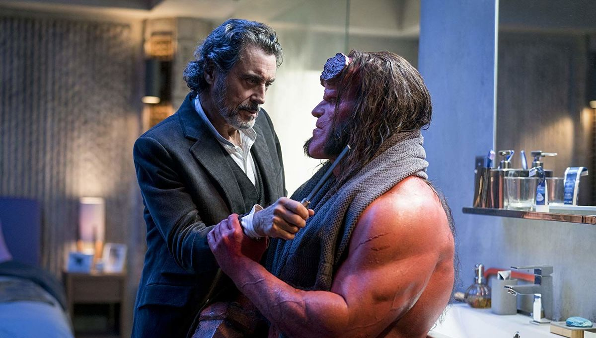 Hellboy and Professor Bruttenholm