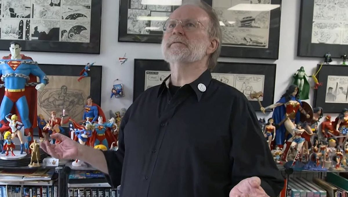 John Byrne in his studio