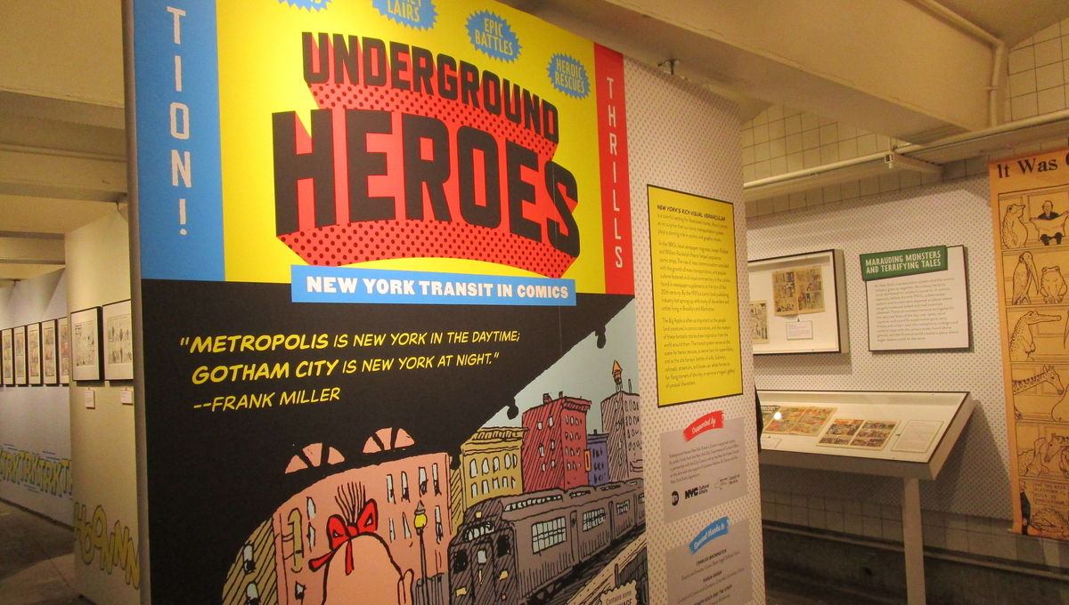 Underground Heroes exhibit at the New York Transit Museum