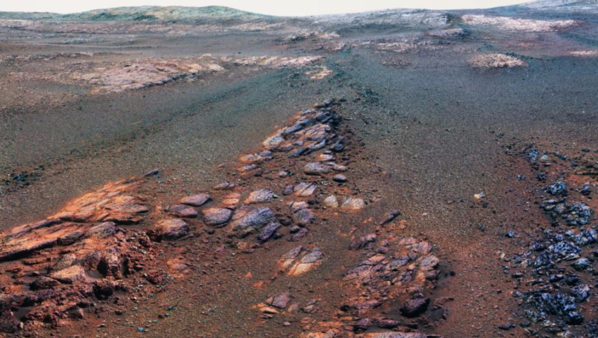 This is the last thing Opportunity saw on Mars before finally